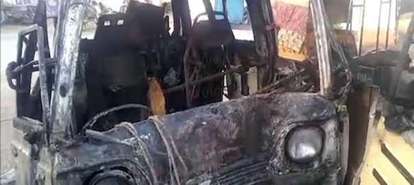 کراچی، گاڑی، آگ، جھلس کر، جاں بحق، افراد، تعداد 8 ہوگئی، 92 نیوز