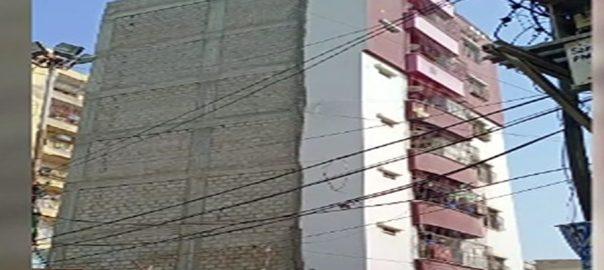 رنچھوڑ لائن  کراچی  92 نیوز زمین بوس  خوف و ہراس 