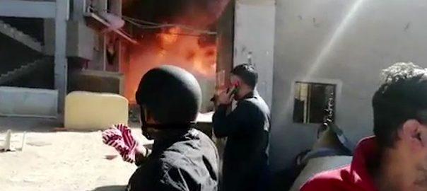کراچی، فوم کی فیکٹری، آتشزدگی، ایک شخص جاں بحق، 2 بیہوش، ایم ڈی واٹر بورڈ، 92 نیوز