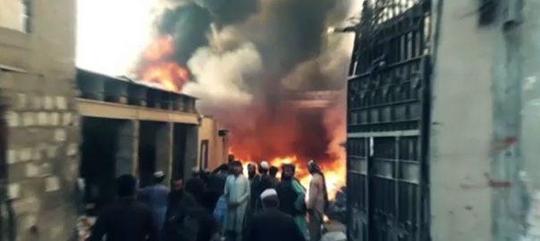 کراچی، پلاسٹک گودام، آتشزدگی، سلنڈر پھٹنے، خاتون جاں بحق، 92 نیوز