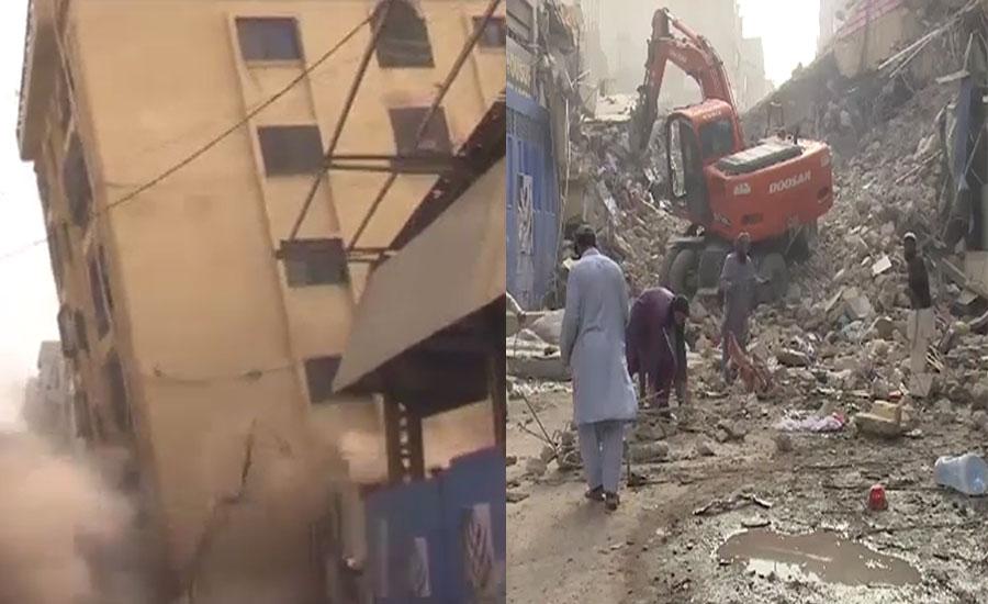 کراچی ، 6 منزلہ عمارت زمین بوس ہونے کا واقعہ مالک کی ہٹ دھرمی کے باعث پیش آیا