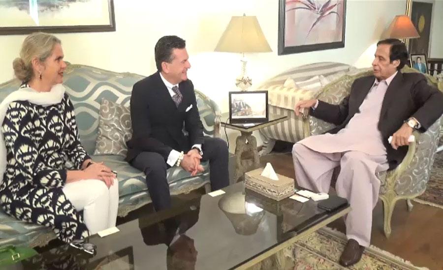 اسپیکر پنجاب اسمبلی پرویزالہٰی سے جرمنی کے اعزازی قونصلر کی ملاقات