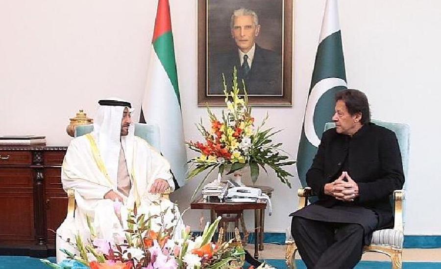 ابو ظہبی کے ولی عہد کی وزیر اعظم سے ملاقات ،علاقائی سلامتی کے امور پر گفتگو