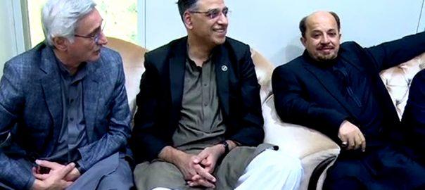 بیرسٹر فروغ نسیم  کابینہ  پی ٹی آئی  وفد  بہادر آباد  ایم کیو ایم  کراچی  92 نیوز