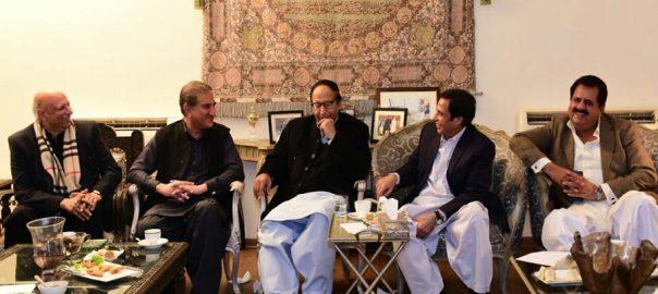 حکومتی  مسلم لیگ ق  لاہور  92 نیوز حکومتی وفد  ذرائع  طارق بشیر چیمہ 