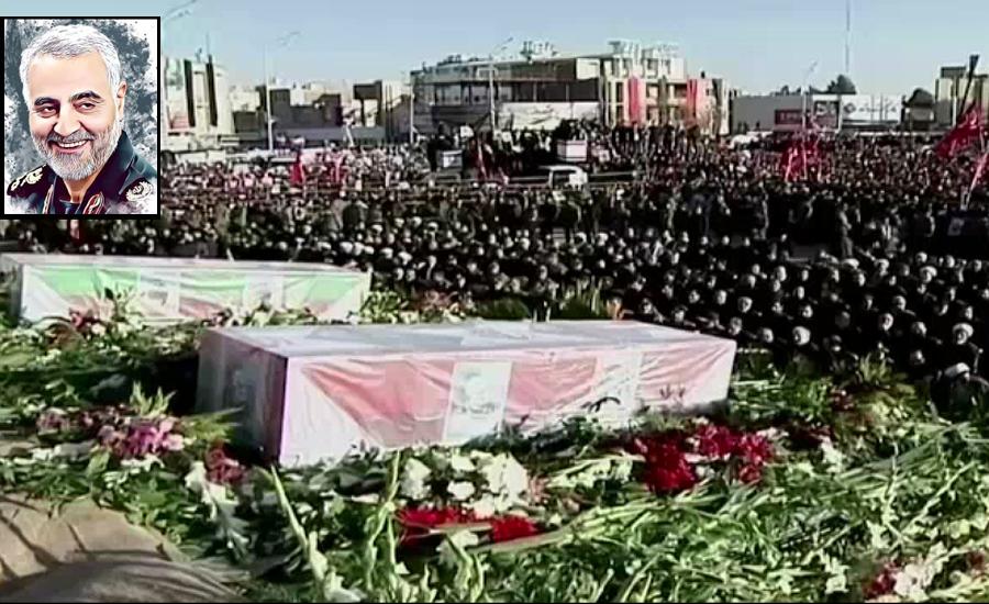 جنرل قاسم سلیمانی آبائی شہر کرمان میں سپرد خاک