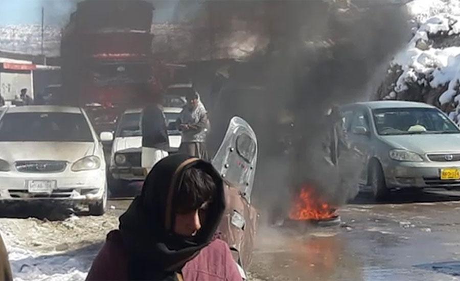 کوئٹہ ، ہنہ اوڑک میں علاقہ مکینوں کا گیس کی بندش کے خلاف احتجاج