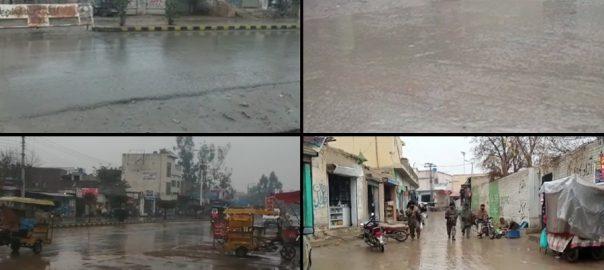 لاہور  پنجاب  رات بارش جل تھل 92 نیوز برفباری 