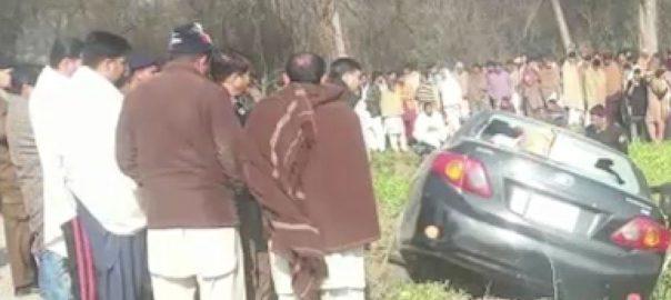 شیخوپورہ ، صفدر آباد ، نامعلوم افراد ، گاڑی ، فائرنگ،5 افراد ، جاں بحق