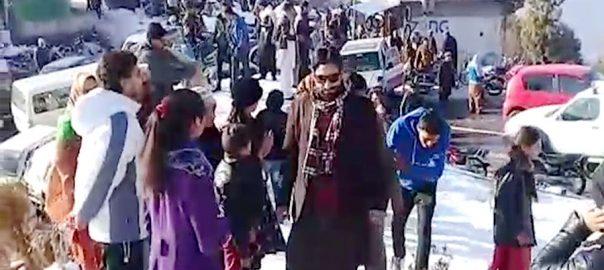 برفباری تھمتے، آزاد کشمیر، سیاحتی مقامات، رش، مظفر آباد، 92 نیوز