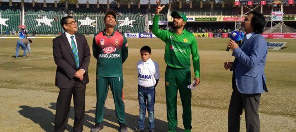 پاک بنگلہ دیش سیریز ، بنگلہ دیش ، ٹاس ، جیت ، بیٹنگ ، فیصلہ