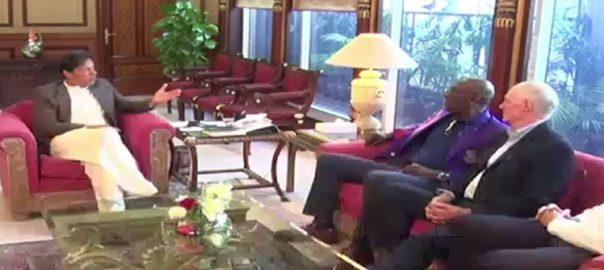 وزیراعظم ، سابق لیجنڈ ، سر ویون رچرڈ ، آئن چیپل ، شین واٹسن ، ملاقات ، اسلام آباد ، 92 نیوز