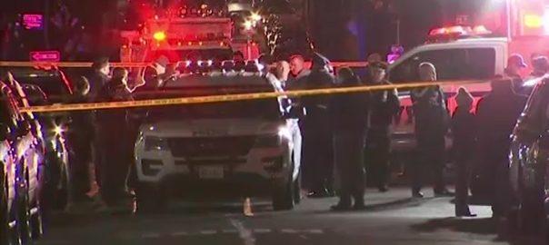 نیو  نیو یارک  مسلح شخص  پولیس اسٹیشن  فائرنگ  اہلکار زخمی  92 نیوز