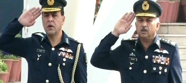 PAF 2 بھارتی جارحیت  منہ توڑ جواب  ائیرہیڈ کوارٹرز  پر وقار تقریب  اسلام آباد  92 نیوز  امیر الفلک  دہشتگردی کے خلاف جنگ  پاک فضائیہ