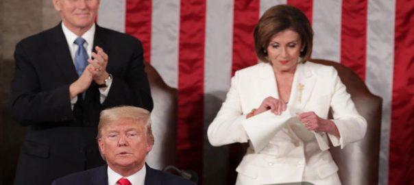 امریکا ، آج ، جتنا طاقتور ، پہلے کبھی نہ تھا ، صدر ڈونلڈ ٹرمپ ، سٹیٹ آف دی یونین ، خطاب ، واشنگٹن ، 92 نیوز