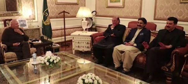 گورنر پنجاب ، صوبائی وزرا ، راجہ بشارت، عنصر مجید ، تیمورخان ، ملاقات، سیاسی ، حکومتی امور ، بات چیت