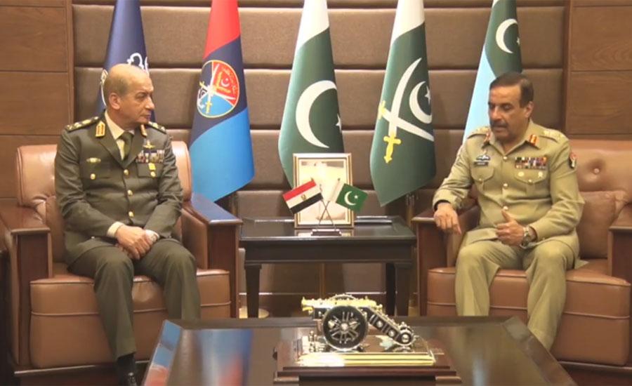 مصر کی مسلح افواج کے کمانڈر ان چیف جنرل محمد احمد ذکی کا جوائنٹ اسٹاف ہیڈکوارٹرز کا دورہ