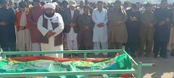 نوشہرو فیروز ، قتل ، صحافی عزیز میمن ، محراب پور ، سپرد خاک