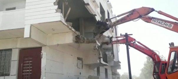 karachi incrochment پی ٹی آئی کراچی تجاوزات آپریشن مزاحمت کا اعلان کراچی  92 نیوز فردوس شمیم نقوی