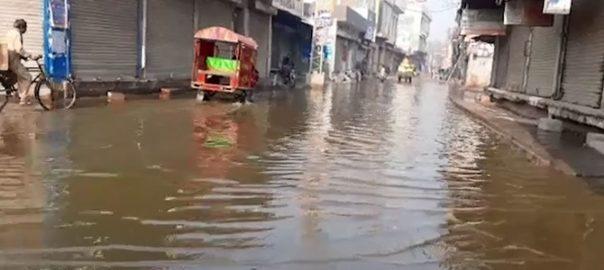 قصور ، علاقہ مین بازار ، کوٹ عثمان ، سیوریج ، گندا پانی ، سڑک ، گلیوں ، گھروں ، داخل