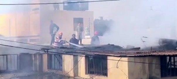 ملیر الیکٹرانکس مارکیٹ آتشزدگی لاکھوں کا سامان خاکستر کراچی  92 نیوز
