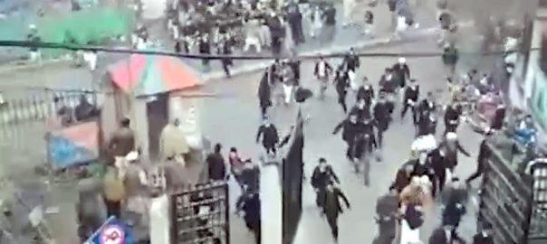 مظفرآباد، چالان ، وکلاء ، پولیس ، تصادم ، شیلنگ ، 12 افراد زخمی ، 92 نیوز