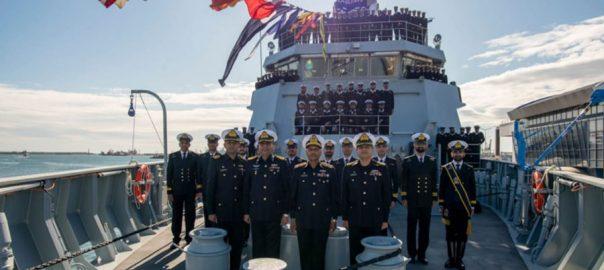 رومانیہ ، تیار ، بحری جہاز ، پی این ایس یرموک ، پاک بحریہ ، بیڑے میں شامل ، اسلام آباد ، 92 نیوز