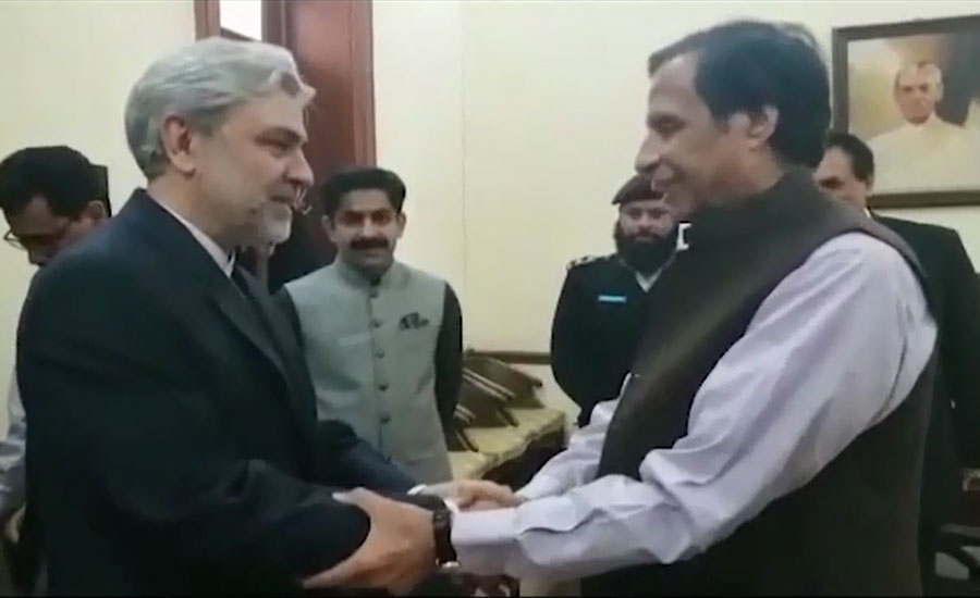 چودھری پرویزالہٰی سے ایرانی سفیر علی حسینی کی ملاقات، دوطرفہ تعلقات پر تبادلہ خیال