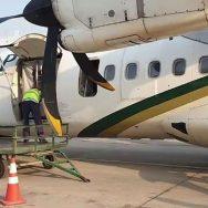 اسلام آباد ، سکھر ، پرواز ، پی کے 631 ، لینڈنگ ، ایمرجنسی گیٹ ، کھل