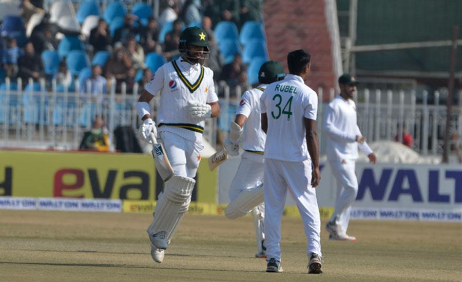 راولپنڈی ٹیسٹ، شان مسعود کی سنچری، پاکستان کے 3 وکٹوں پر 206 رنز