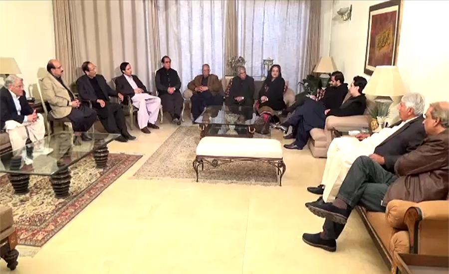 چودھری شجاعت حسین کی زیر صدارت پاکستان مسلم لیگ ق کا ہنگامی اجلاس