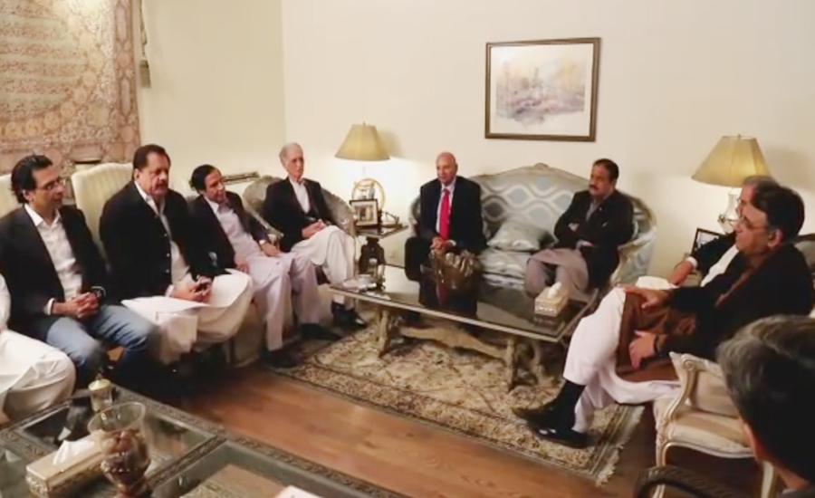 حکومتی کمیٹی اور مسلم لیگ ق کا مشاورتی اجلاس ، مل کر چلنے پر اتفاق