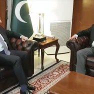 شاہ محمود ، بیرسٹر فروغ نسیم ، ملاقات ، مسئلہ کشمیر ، تبادلہ خیال ، اسلام آباد ، 92 نیوز