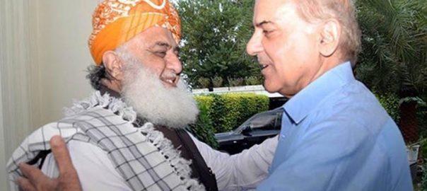 اپوزیشن ، متحد ، شہبازشریف ، فضل الرحمٰن ، رابطہ ، لاہور ، 92 نیوز