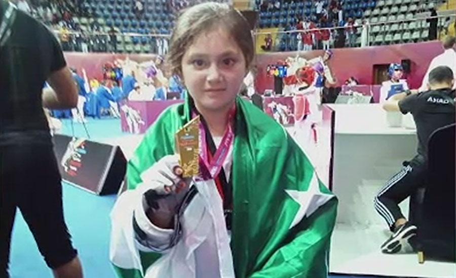 سوات کی 9 سالہ عائشہ ایاز تائیکوانڈو کی بین الاقوامی چیمپئن بن گئی