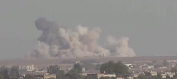 شام ، شہر ، ادلب ، فضائی حملے ، تینتیس ، ترک فوجی ، ہلاک