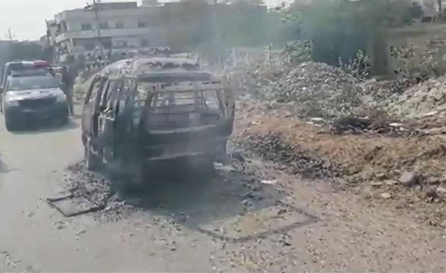 کراچی کے علاقے سچل میں اسکول وین میں آتشزدگی ، بچوں کو بحفاظت نکال لیا گیا