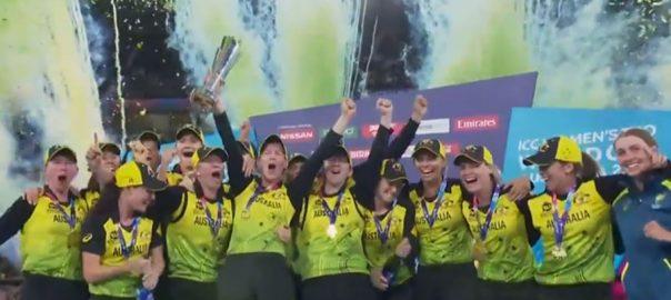 آسٹریلیا ، پانچویں بار ، آئی سی سی ویمن ٹی ٹونٹی ورلڈکپ ، چیمپئن