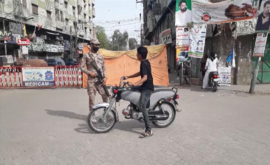 حیدرآباد میں بھی مکمل لاک ڈاؤن، اہم شاہراہیں بند، پولیس اور رینجرز تعینات