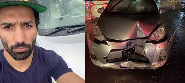 باکسر ، محمد وسیم ، ٹریفک حادثے ، زخمی