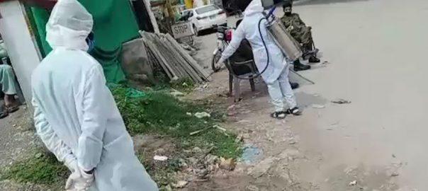 راولپنڈی ، کورونا وائرس ، بچاؤ ، جراثیم کش ، اسپرے