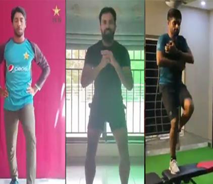 پاکستانی کرکٹرز نے گھروں میں ہی ٹریننگ شروع کر دی