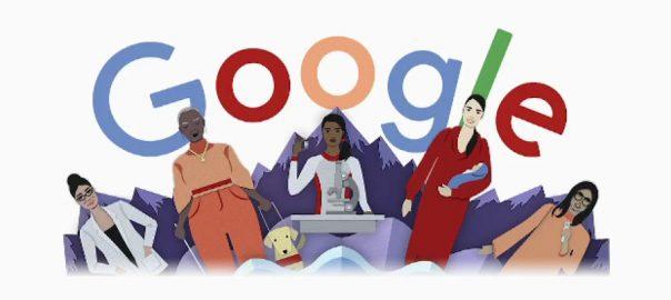 خواتین ، عالمی دن ، سرچ انجن گوگل ، زبردست خراج تحسین ، ڈوڈل تبدیل ، کیلیفورنیا ، 92 نیوز