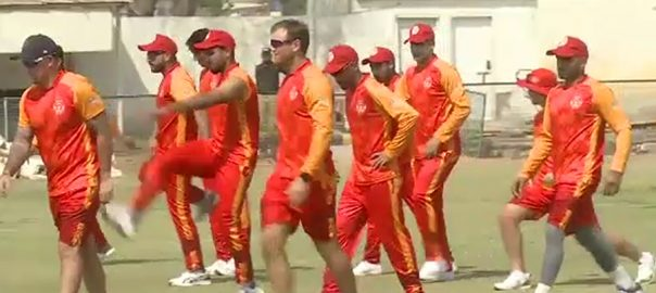 islamabad united اسلام آباد یونائیٹڈ  غیر ملکی کھلاڑی  کراچی  92 نیوز کورونا وائرس 
