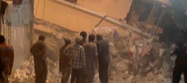 karachi building collapse گولیمار  عمارت  27 افراد جاں بحق  ریسکیو آپریشن مکمل  کراچی