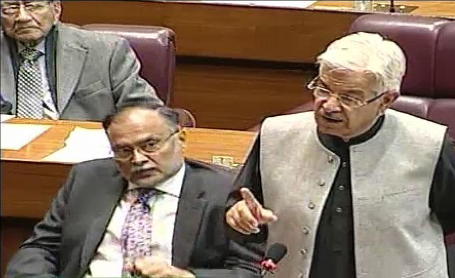 خواجہ آصف کا آٹا اور چینی بحران پر پارلیمانی کمیٹی بنانے کا مطالبہ