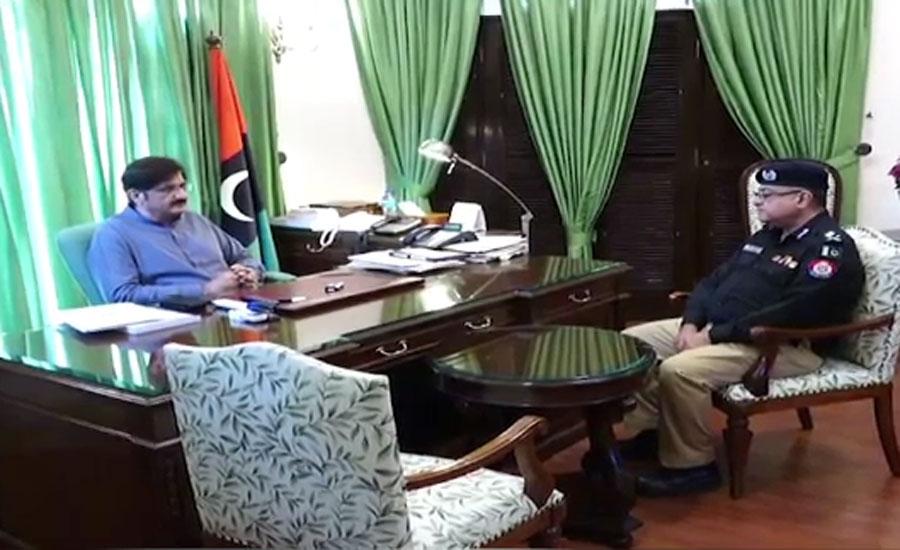 مشتاق مہر کی مراد علی شاہ سے ملاقات، صوبے میں امن و امان کے حوالے سے تبادلہ خیال