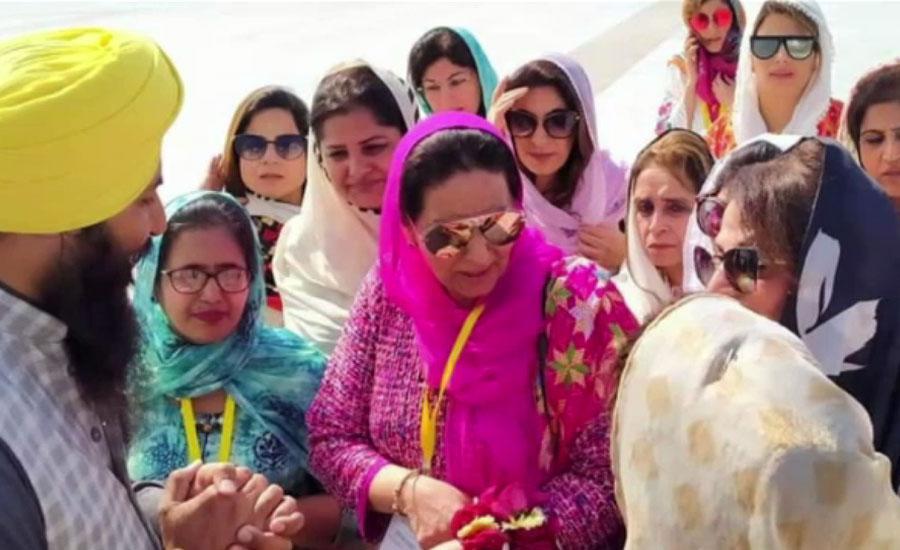 بھارتی پنجاب کے وزیر اعلیٰ کی اہلیہ کی 150 سے زائد خواتین کے ہمراہ کرتارپور آمد