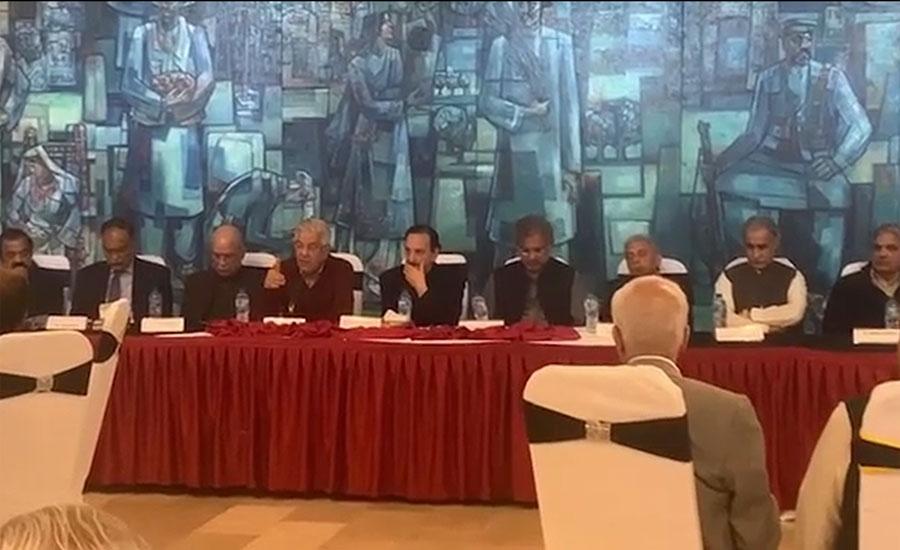 ن لیگ کی پارلیمانی پارٹی کا اجلاس، سینیٹر پیر صابر شاہ پارٹی پالیسیوں پر برہم