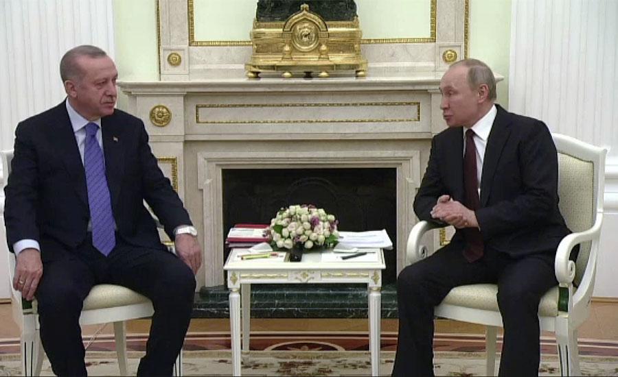 ولادی میر پیوٹن اور رجب طیب اردوان کی ملاقات ، اِدلِب میں جنگ بندی پر اتفاق